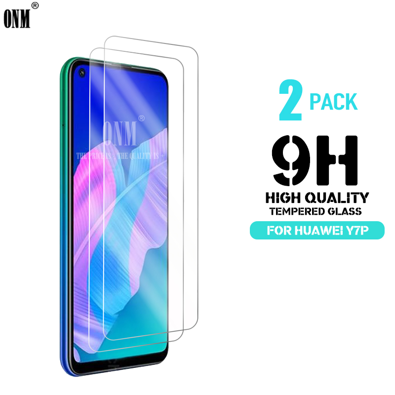 2Pcs Y7P Tempered Glass For Huawei Y7P Screen Protector 9H Tempered Glass For Huawei Y7P Protective Film