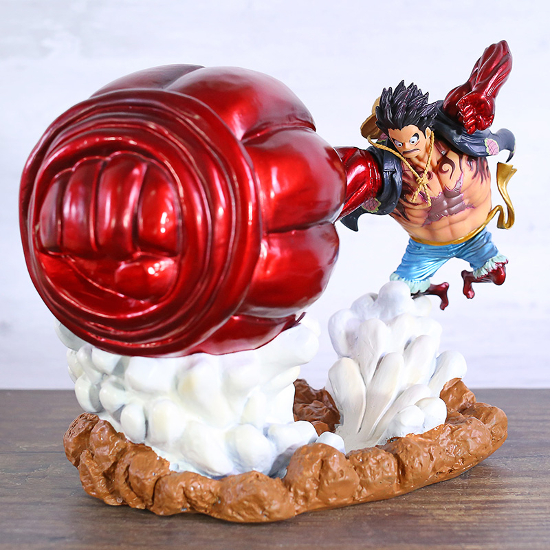 <font><b>One</b></font> <font><b>Piece</b></font> Gear 4 Fourth Monkey D <font><b>Luffy</b></font> Big Hand Ver. Statue PVC Figure Collectible Model Toy image