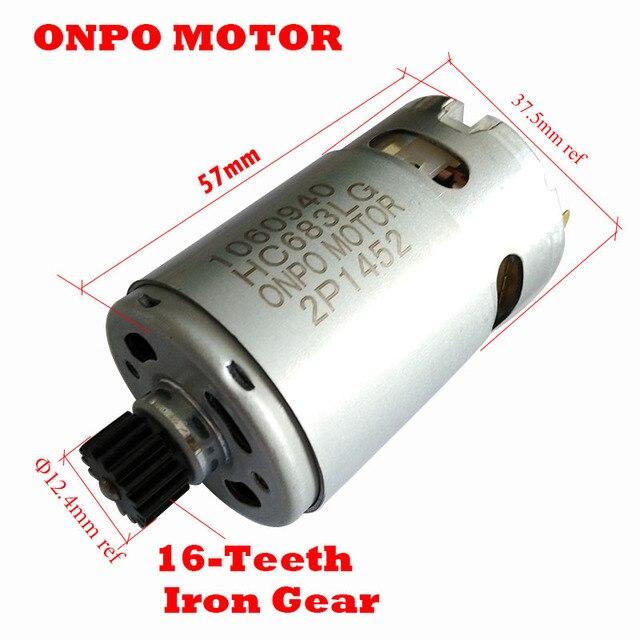 Onpo 14.4V 16 Răng DC Mocro Động Cơ 1060940 Cho Black & Decker EGBL148 Điện Khoan Vặn Vít Phụ Kiện
