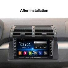 Radio Multimedia con GPS para coche, Radio con reproductor, android, navegador, estéreo, WIFI, mapa gratuito, cuatro núcleos, 2 din, para BMW E53, E39, X5, M5