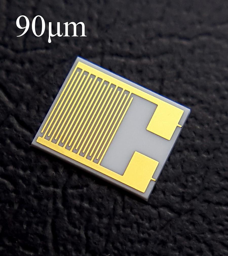 90um Ceramic Fork Finger Electrode IDE Capacitor Array Biogas Humidity Sensor Chip