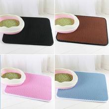 Двухслойный коврик для кошачьего туалета водонепроницаемый и