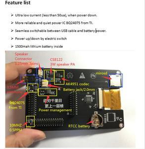 Image 2 - Najnowsza wersja PORTAPACK H2 + HACKRF ONE SDR Radio + oprogramowanie havoice + 0.5ppm TCXO + 3.2 calowy dotykowy LCD + 1500mAh bateria