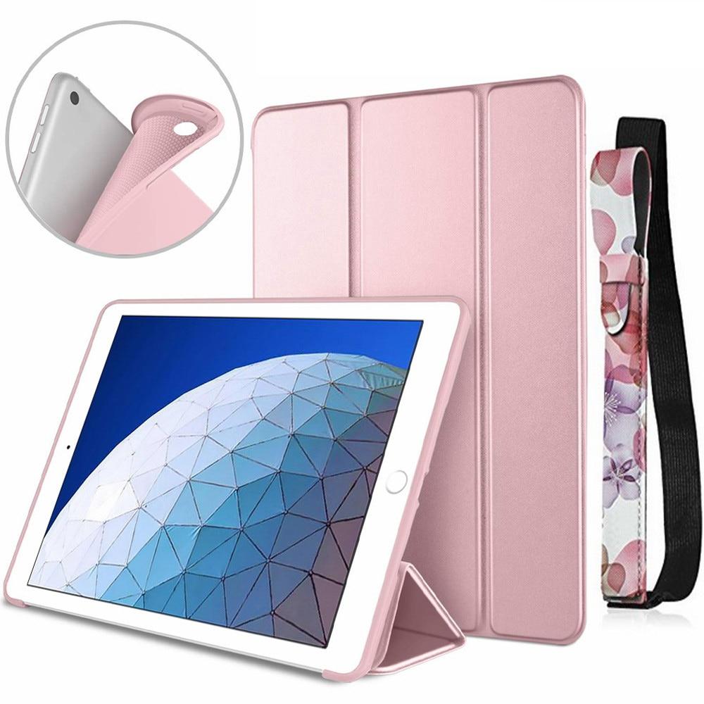 Pour iPad Air 3rd génération 10.5 étui couverture intelligente triple support doux pour iPad Air 3 10.5 pouces 10.2 7th 2019 veille/réveil automatique
