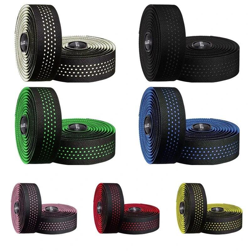 EVA Bicycle Bike Handlebar Grip Cycling Tapes Wraps Bandage with Bar Plug-2PCS