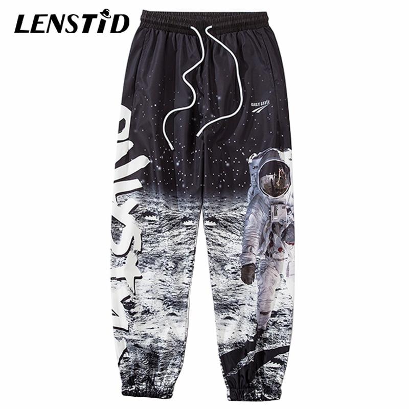 LENSTID 2020 Hip Hop Astronaut Printed Joggers Pants Mens Streetwear Harajuku Sweatpants Casual Summer Track Pant Harem Trousers