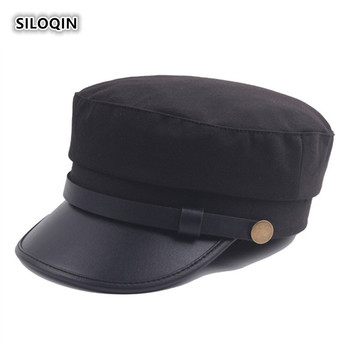 SILOQIN  Quality Military Hat Autumn Winter Unisex Leisure Flat Cap Snapback Tourism Mountaineering Sports Casquette Couple Hats siloqin autumn winter genuine leather hat woman s hat sheepskin snapback men s leisure military hats gorras couple hat flat cap