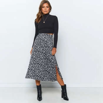 2020 New Sexy Leopard Print Chiffon Split Skirt   5