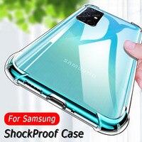 De lujo a prueba de golpes a prueba de silicona caso para Samsung A51 A41 A50 A71 A01 A70 A10 A30 S21 S9 S10 Lite S20 FE nota 20 Ultra 9 10 cubierta