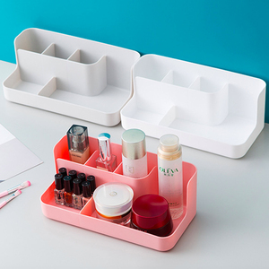 Simple Solid Color Storage Box Makeup Organizer Case Cosmetic Display Sundries Container Lipstick Storage Box Sorting Organizer