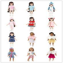 цена Born New Baby Fit 18 inch 43cm Doll Clothes  Doll Unicorn girl hat Nightgown Doll Clothes Accessories Set For Baby Birthday Gift онлайн в 2017 году