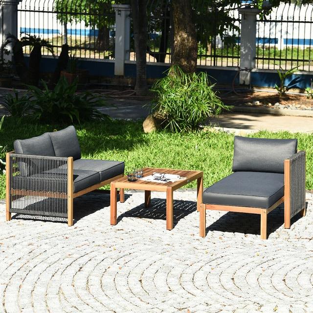 3 Piece Patio Sofa Set with Armrest  6