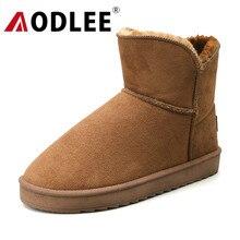 AODLEE Boots Men Winter Snow Boots Warm Plus Size 36-45 Fashion High Top Plush Boots Men An