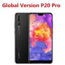 Wersja międzynarodowa HuaWei P20 Pro CLT-L29 telefon komórkowy 40.0MP + 20.0MP + 8.0MP + 24.0MP Kirin 970 6.1