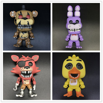 Foxy The Pirate /CHICA/BONNIE/NIGHTMARE FREDDY/GLOW ON THE DARK Five Nights at Freddy's Model toys Collect gifts freddy fazebear chica foxy full face latex mask costume toys five nights at freddy fnaf halloween horror mask brinqudoes l2079