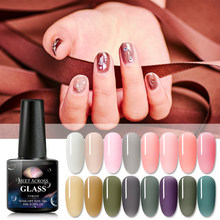 Voldoen Over Opal Jelly Nail Gel Polish 6 Ml Semi-Transparant Wit Roze Vernis Losweken Manicure Nail Art uv Gel Lak(China)