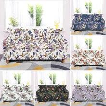 1/2/3/4 miejsc kwiat wydruku All-inclusive Slipcovers antypoślizgowa elastyczna narzuta na sofę Stretch fotel poszewki na kanapę
