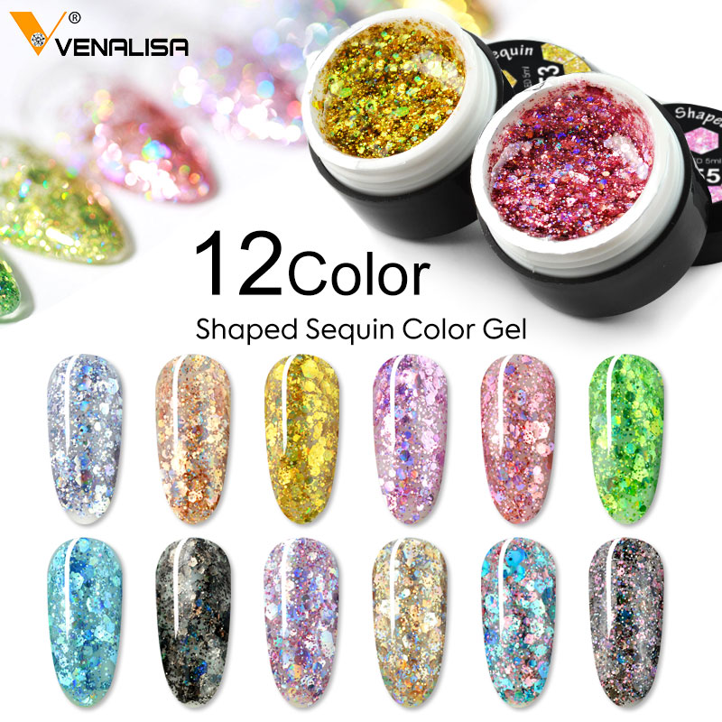 VENALISA Nail Art Semi Permanent UV Lacquer Hybrid Varnishes Gel Glitter Platinum Paint Nail Polish Top Base Primer For Manicure