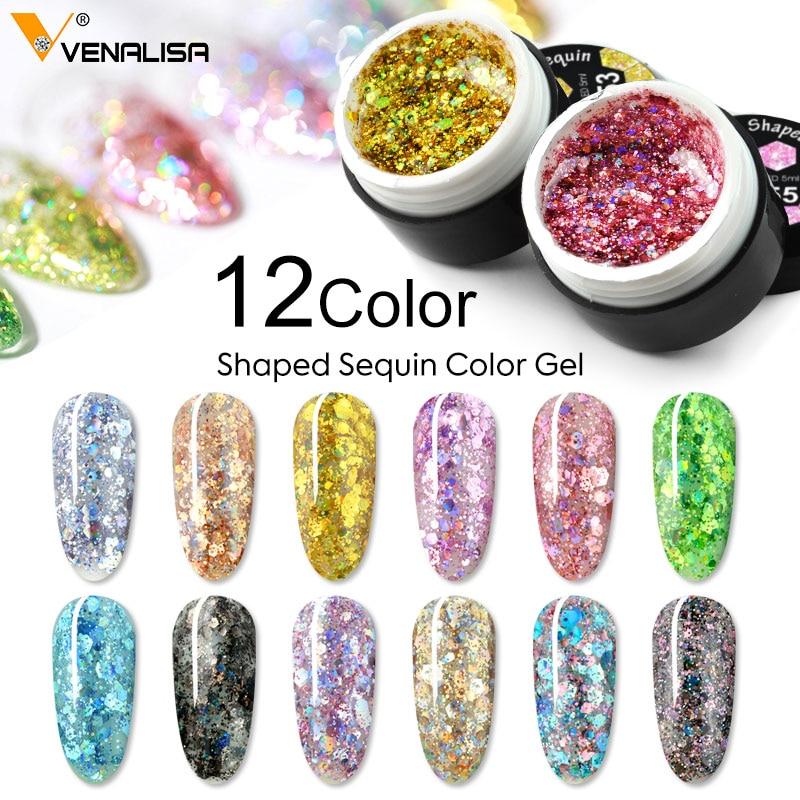 VENALISA Nail Art Semi Permanent UV Lacquer Hybrid Varnishes Gel Glitter Platinum Paint Nail Polish Top Base Primer For Manicure