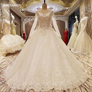 Image 1 - LS99064 Elegante Kant Trouwjurk Baljurk Crystal Bruidsjurken Robe De Mariage 2018 Echte Foto S