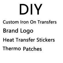 Autocollants thermoadhésifs à transférer sur vêtements, badge logo de marque, bande thermoadhésive