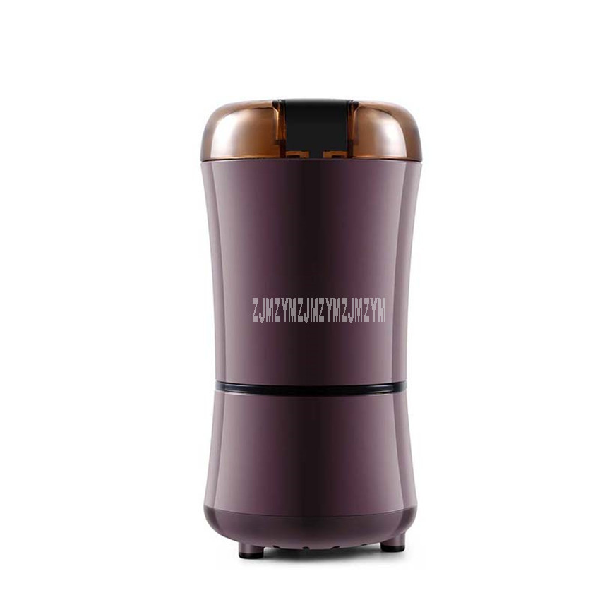 50g Mini 304 Stainless Steel Electric Herbal Dry Food Grinder Coffee Bean Grinding Machine Spices Cereals Mill Crusher GR150A