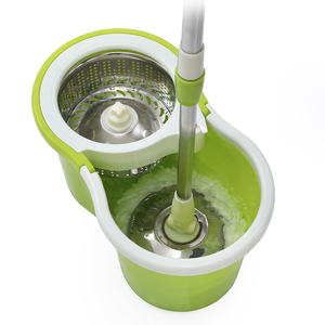 Image 2 - iFun spin Mop & bucket double drive with 2pcs microfiber mop heads floor cleaning system easy wring metal handle