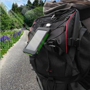 Image 5 - 8000mAh خزان طاقة يعمل بالطاقة الشمسية شاحن شمسي ضد الماء المزدوج USB الخارجية شاحن باوربانك ل شاومي هواوي آيفون 7 8 سامسونج