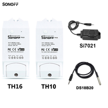 Sonoff TH10/15A Smart Wifi Switch Monitoring Wireless Probe Temperature Humidity Sensor Switch Wifi Smart Home Remote Controller