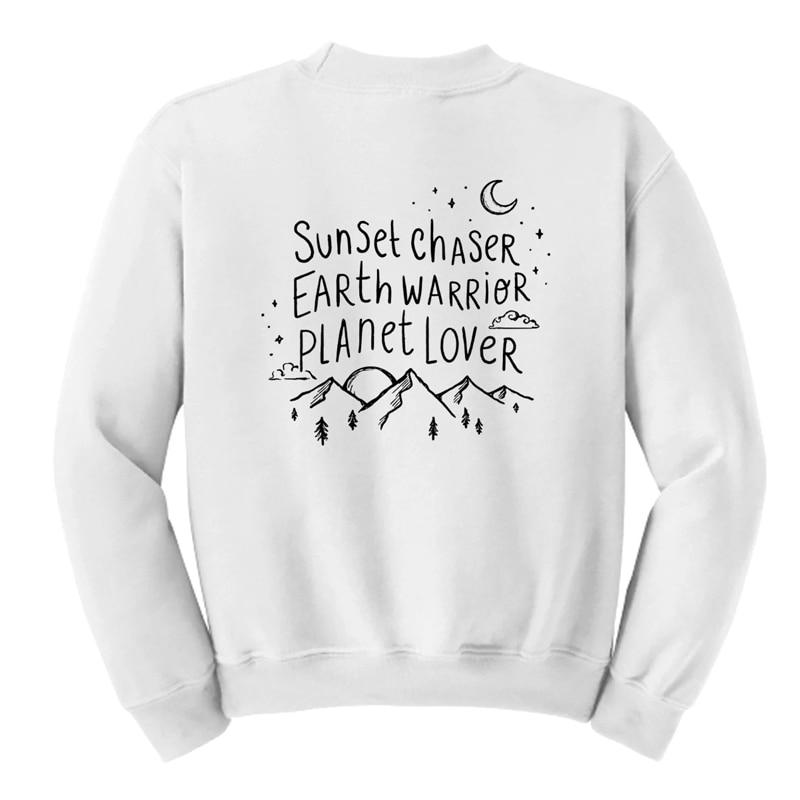 graphke Hiking Handwritting Unisex Crew Neck Sweatshirt