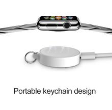 Przenośna bezprzewodowa ładowarka magnetyczna indukcyjna do zegarka Apple 1 2 3 4 seria Usb do ładowania IWatch z brelokiem tanie tanio choifoo CN (pochodzenie) Wifi Bezprzewodowe Ładowanie Micro USB 5V 0 4A 2W Wireless For Apple Watch Wireless Charger Original Magnetic Module