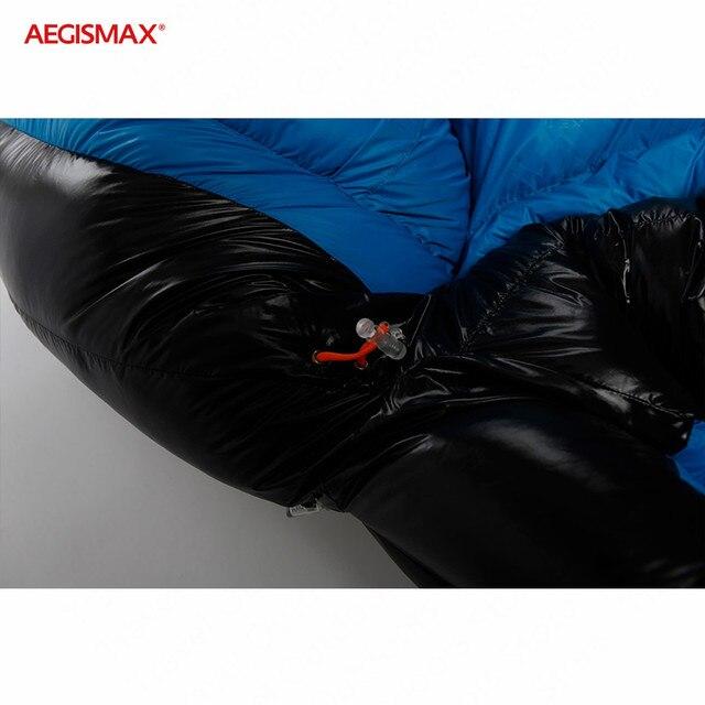 AEGISMAX G Outdoor Camping -22℉~-10℉ Sleeping Bag Winter 95% Goose Down FP800 Warm 15D Nylon Waterproof Sleeping Bag Comfort 6