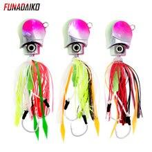 FUNADAIKO – leurre métallique lumineux en caoutchouc pour la pêche en mer, appât artificiel idéal pour la pêche à la turlutte, au vivaneau, Kabura, Inchiku, Madai, 120g