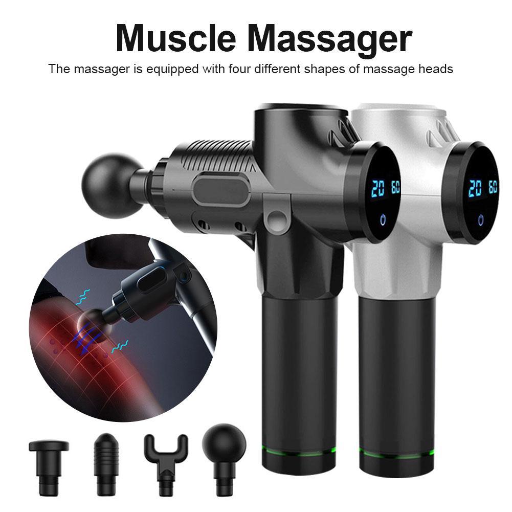 Электрический массажер для расслабления мышц, массажер для глубоких тканей, ручные упражнения, облегчение боли в мышцах, формирование тела ...