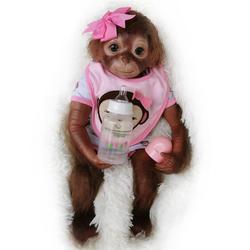 20-дюймовая силиконовая кукла Reborn Baby Monkey для девочек и мальчиков, мягкая силиконовая виниловая Гибкая Коллекционная кукла ручной работы