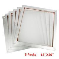 Hot New 6Pcs/Set 45x50cm Aluminum Frame Silk Screen Printing Press Frame 110 White Mesh Count for High precision Printed Circuit