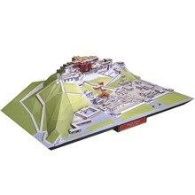 Китай Тибет Potala дворец 3D бумажная модель всемирно известная архитектурная модель ручной работы DIY строительные Образовательные игрушки коллекционные вещи