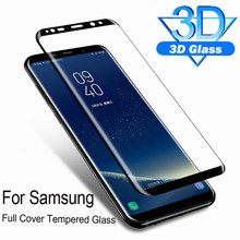 Curved Full Cover Tempered Glass for Samsung Galaxy S9 S8 Plus Protective Glass Screen Protector Film for S6 S7 Edge Note 8 9 10(China)
