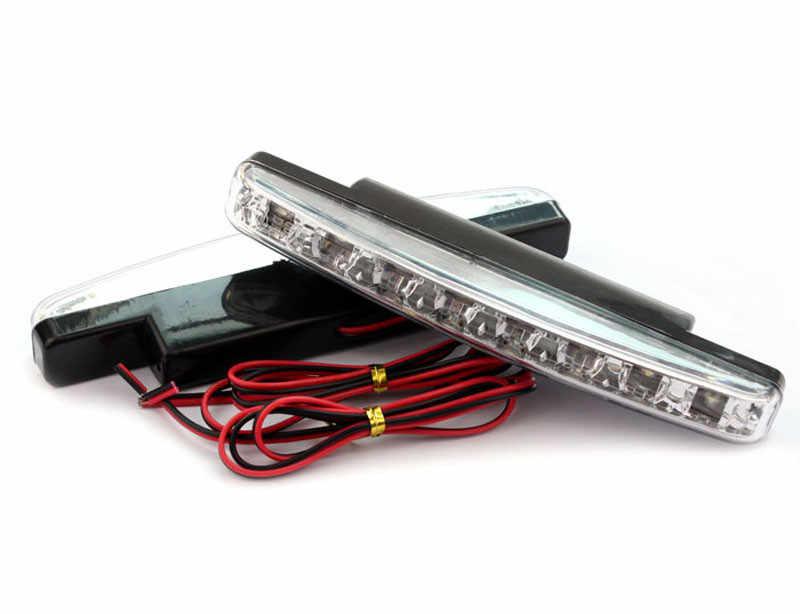 徹底的に打ちのめす新ホット販売車スタイリング 12V 8 ワット 6000 18K 8 LED 昼間ライト Drl カーフォグランプ防水ホワイト Dc 12V Dec