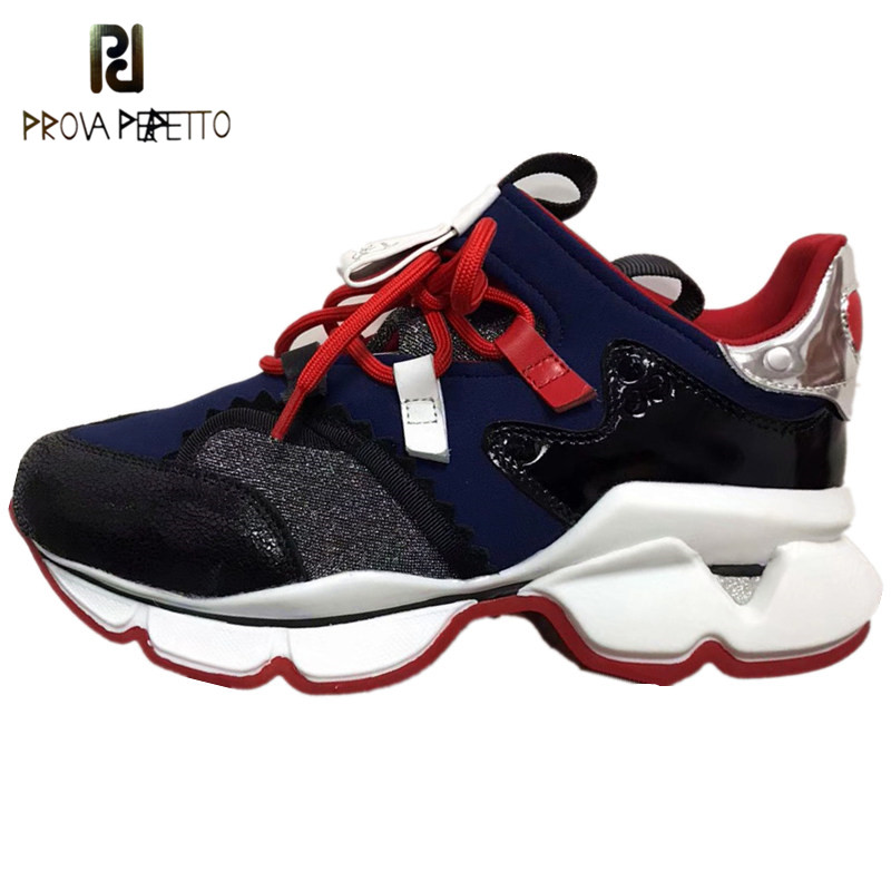 Brand Designer Women Sneakers Fashion Rivets Casual Dad Shoes Lace-Up Chunky Sneakers Flat Mixed Color High Quality Sneakers New