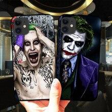 Mroczny rycerz Joker Karta etui na telefon iPhone 12 Mini 11 Pro XS Max 6S 8 7 Plus X XR 5S SE 2020 czarna okładka miękkiego silikonu Coque