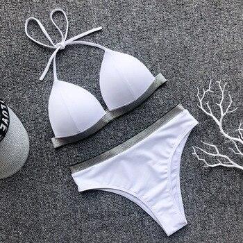 Metallic Accent High Waist Bikini 6