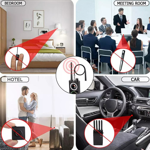 Multi-Function Anti Detector Bug Detector Signal Camera Detector BUG Anti Spy Detector RF Tracker GPS Locator Wireless Device 6