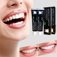 Tooth Care Bamboo Natural Activated Charcoal Teeth Whitening Black Toothpaste Toothbrush Oral Hygiene Dental Dropshipping(China)