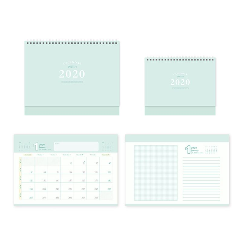 2020 Desktop Standing Coil Paper Calendar Memo Daily Schedule Table Planner Year QX2B