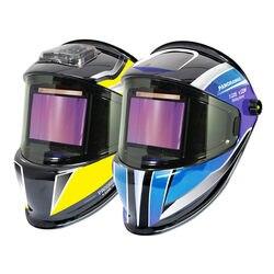 Casque de soudage 3 vue latérale DIN 5-9/9-13 indice optique 1111 4 capteurs vraie couleur EN379 ANSI CSA masque de soudage assombrissant automatique