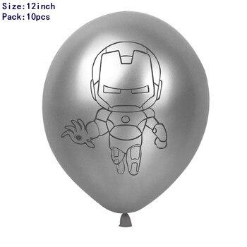 1set 3D Big Spider Supper Hero Man Mylar Foil Balloon Number Foil Balloons Birthday Party Decoration Supplies Children's Gifts 28