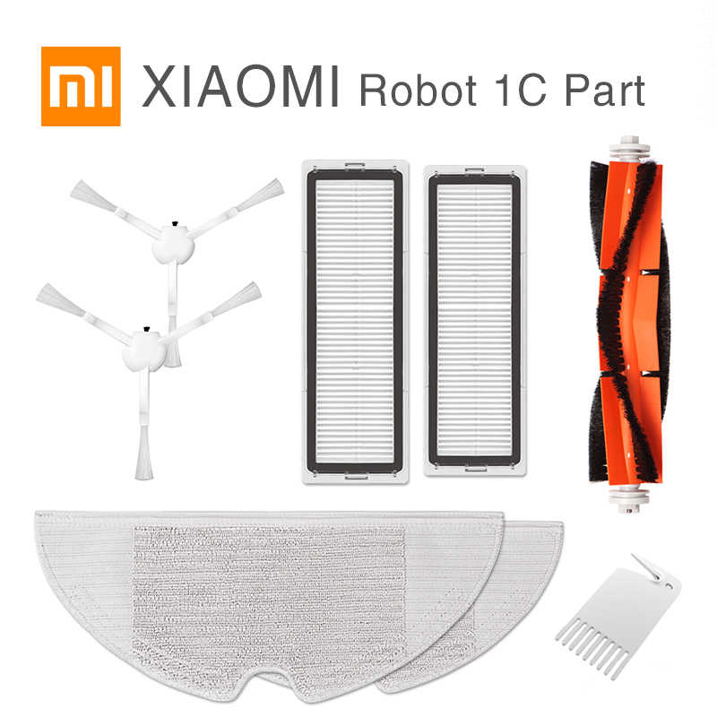 새로운 XIAOMI MIJIA Sweeping Mopping Robot 진공 청소기 1C 기존 예비 부품 팩 키트 Side Roller HEPA Filter Main brush Mop