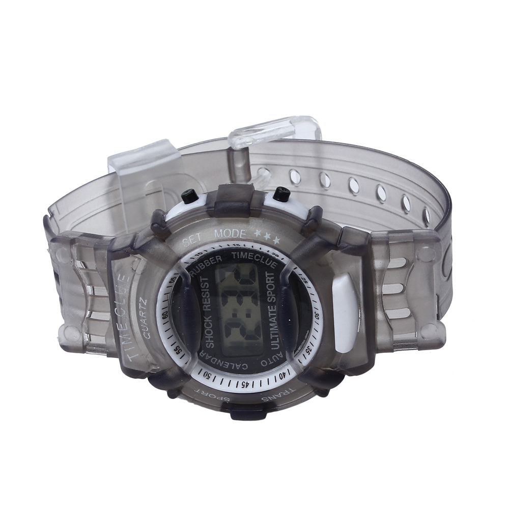 Children's watch student waterproof digital intelligent transparent rubber punctuation sports outdoor hot sale boutique watch 03