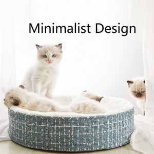 Image 4 - Youpin cama de gato para dormir profunda, cálida, además de terciopelo, perrera Universal extraíble y lavable para mascotas, cama para perros pequeños de peluche